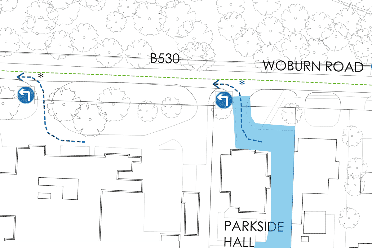 ampthill fireworks parking